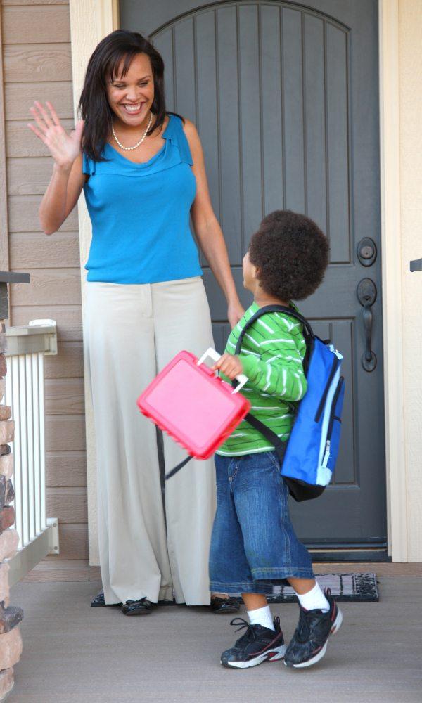 Child Leaves for School