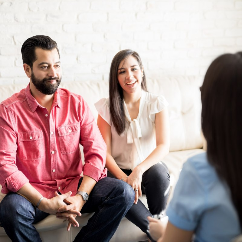Couple with a Divorce Mediator