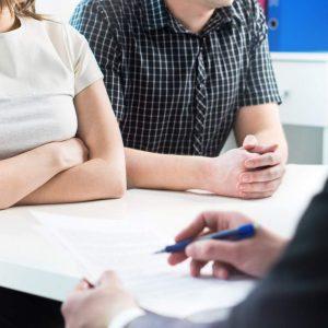 Couples at Divorce Mediation