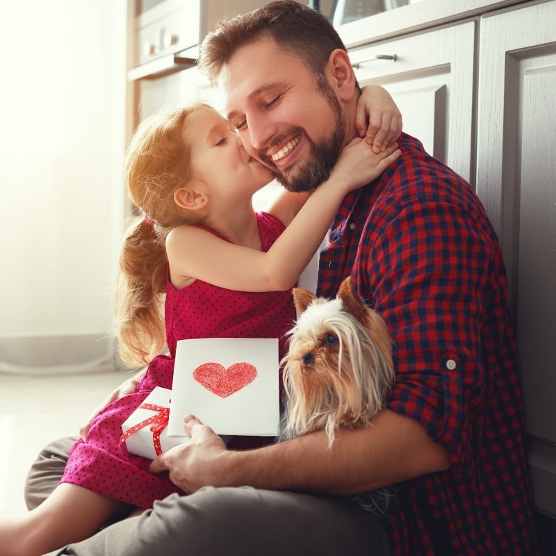 Father and daughter celebrate Valentine's Day