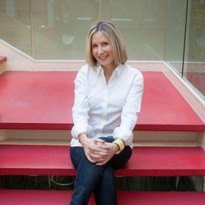 Karen Stewart founder Fairway Divorce on Stairs