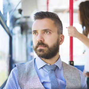 Man on Bus