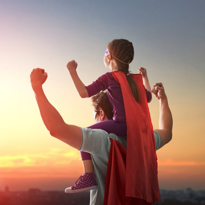 Super Dad with Daughter