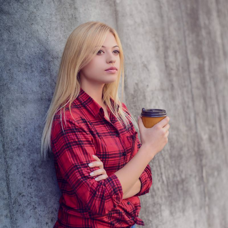 Women waiting with coffee